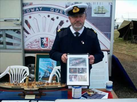 Medway Queen display stand at War and Peace Show 2011