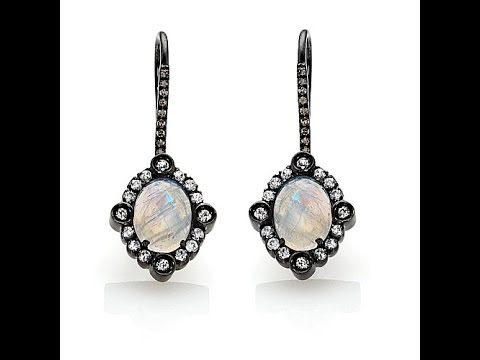 Rarities Moonstone and Multigemstone Earrings