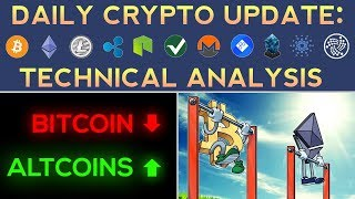 BITCOIN PULLS BACK, ALTCOINS BOUNCE!? (1/7/18) Daily Update + Technical Analysis