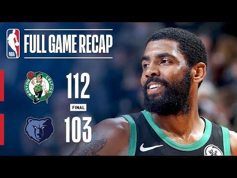 Video: Full Game Recap: Celtics vs Grizzlies   Conley and Kyrie Duel