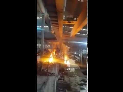 10 Ton Double Girder Overhead Crane - Steel Foundry