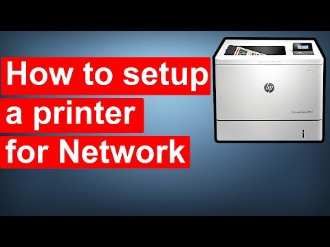 How to Set Up a Printer for a Network
