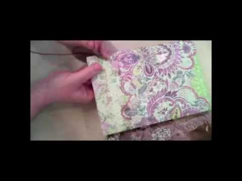 Journal - Candace Jedrowicz shows how to make a dream journal from scratch by using a cereal box, scrapbook papers and embellishments. Featured on Inspired at Home - t...