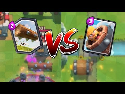 NEW CARD BARBARIAN BARREL vs THE LOG!! WHAT WILL YOU USE? | Clash Royale 20 WIN CHALLENGE GAMEPLAY!! (видео)