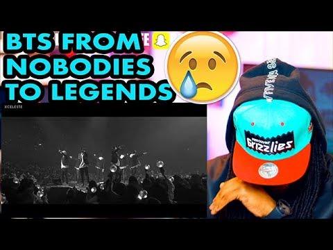 BTS // FROM NOBODIES TO LEGENDS 2013- DEC 2017 | REACTION!!! (видео)