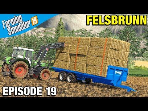 Farming Simulator 19 Timelapse - Felsbrunn FS19 Episode 19 LOADING FLATBED TRAILER