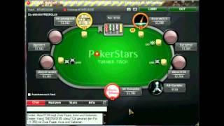 POKER LAG Auf POKERSTARS SNG 1,5$ (Pokerschule Deutsch Kommentiert) Teil 3
