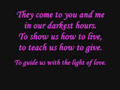 Demi Lovato Angels Among Us Lyrics on screen