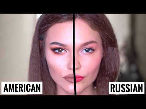 АМЕРИКАНСКИЙ vs РУССКИЙ МАКИЯЖ - DomaVideo.Ru