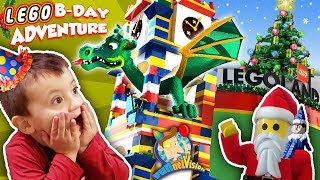 LEGOLAND CHRISTMAS! Shawn's 3rd Birthday Lego Adventure #1 (FUNnel Family)