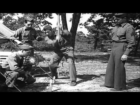 United States guardsmen preparing for their training in Fort Dix, New Jersey. HD Stock Footage
