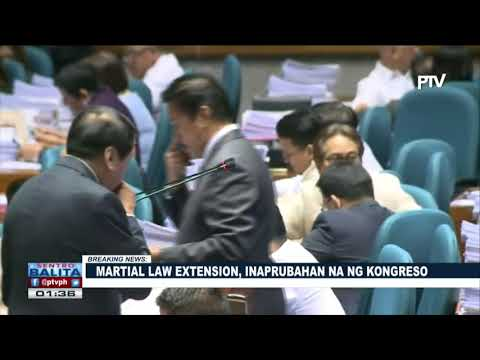 BREAKING NEWS: Martial law extension, inaprubahan na ng Kongreso