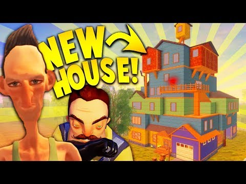 HELLO NEIGHBOR'S BROTHER GOT A NEW UPDATED HOUSE! | Hello Neighbor Mobile Rip off (Angry Neighbor) (видео)