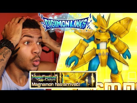 Digimon Links - I GOT MAGNAMON, 3X DIANAMON AND MUCH MORE!!! - BEST Mega Festival Capture OPENING! (видео)