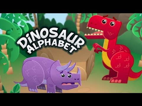 Dinosaur Alphabet Song - Kids learn the ABCs with T-Rex