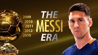 Video Lionel Messi ● THE MESSI ERA ● 5 Ballon d'Ors || HD MP3, 3GP, MP4, WEBM, AVI, FLV November 2017