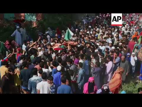Thousands attend funeral for rebel killed in India-controled Kashmir
