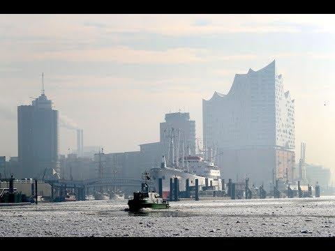 So schön war der Winter im Hamburger Hafen