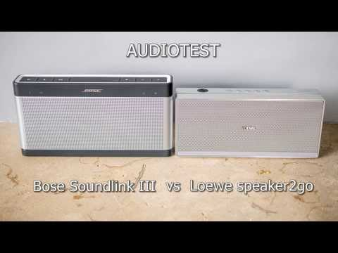 Bose Soundlink III vs Loewe speaker2go audiotest