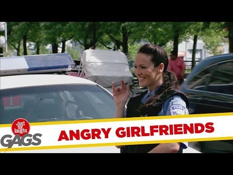 女朋友吃醋去爆胎!
