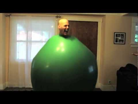 0 Funny video   Man in a big balloon