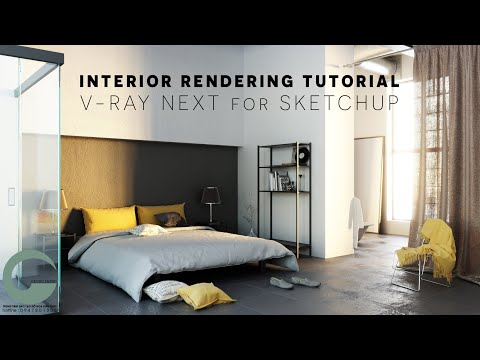 Interior rendering Tutorial _ V-ray NEXT for SKETCHUP
