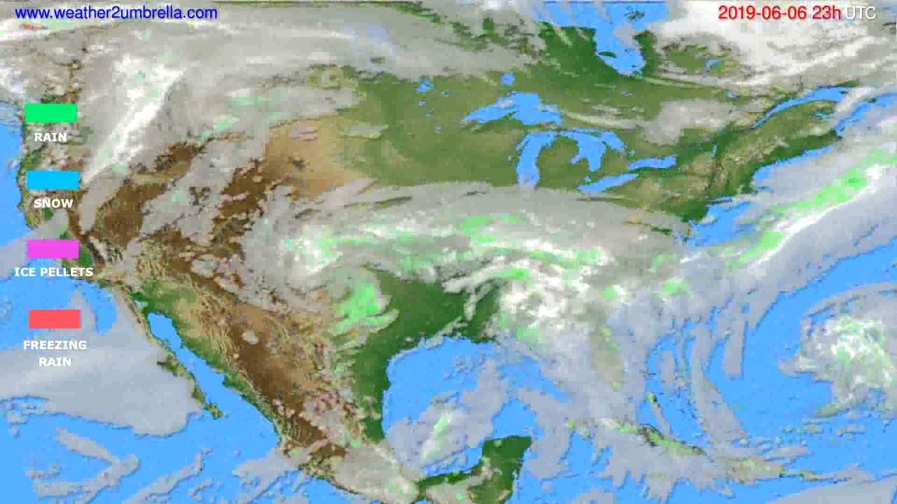 Precipitation forecast USA & Canada // modelrun: 12h UTC 2019-06-03