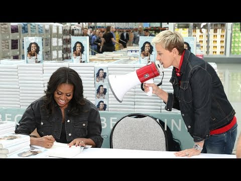 Ellen  Michelle Obama Go to Costco
