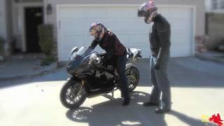 10. Girl Riding a Ducati 999S