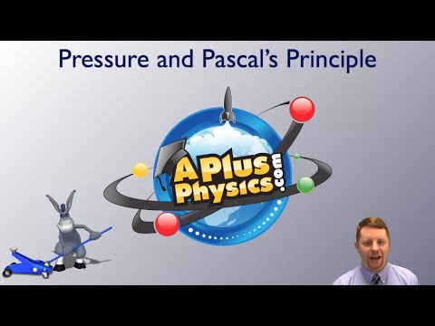 pressure - A brief introduction to pressure and Pascal's Principle, including hydraulics, for students in algebra-based physics courses such as AP Physics B and AP Phys...