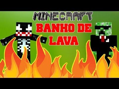 Minecraft Aventura - BANHO DE LAVA!! com VenomExtreme