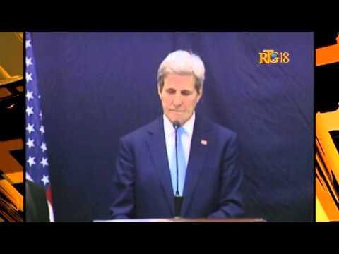 John Kerry, US Secretary of State, Visit Haiti.