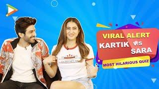 Video Kartik Aaryan v/s Sara Ali Khan - An Epic LAUGH RIOT | Quiz on Imtiaz Ali films | Love Aaj Kal download in MP3, 3GP, MP4, WEBM, AVI, FLV January 2017