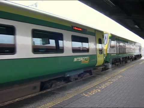 Dublin Cork Line - Diesel loco hauled express trains are alive and well in Ireland. Here we ride in the cab of a class 201 General Motors' built loco at the head of a state of ...