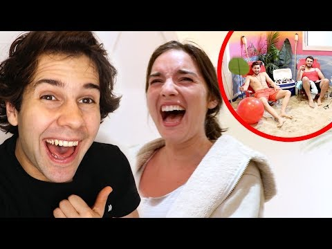 TRANSFORMING HER ROOM INTO A BEACH!! (SURPRISE)