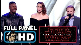 STAR WARS: THE LAST JEDI Full D23 Expo Cast PanelSUBSCRIBE for more Movie Trailers HERE: https://goo.gl/Yr3O86PLOT: Having taken her first steps into a larger world in Star Wars: The Force Awakens (2015), Rey continues her epic journey with Finn, Poe and Luke Skywalker in the next chapter of the saga.CAST: Daisy Ridley, John Boyega, Mark Hamill, Laura Dern, Benicio Del ToroCheck out our specific genre movie trailers PLAYLISTS:SUPERHERO/COMIC BOOK TRAILERS: https://goo.gl/SaiXSIANIMATED TRAILERS: https://goo.gl/l6bXaUSEXY TRAILERS: https://goo.gl/oX8yNTHORROR TRAILERS: https://goo.gl/Ue0motCELEBRITY INTERVIEWS: https://goo.gl/1YhJtUJoBlo Movie Trailers covers all the latest movie trailers, TV spots, featurettes as well as exclusive celebrity interviews.Check out our other channels:TV TRAILERS: https://goo.gl/IoWfK4MOVIE HOTTIES: https://goo.gl/f6temDVIDEOGAME TRAILERS: https://goo.gl/LcbkaTMOVIE CLIPS: https://goo.gl/74w5hdJOBLO VIDEOS: https://goo.gl/n8dLt5