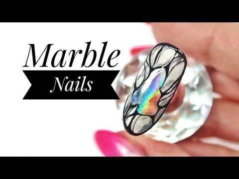Nail art -  :: Marble Nails ::  Nailart by Natalia