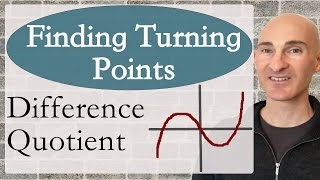 Learn how to find the turning points of a graph using the difference quotient in this free math video tutorial by Mario's Math Tutoring. We discuss the horizontal tangent line and how it can be used to find the relative maximum and minimums of a graph.Looking to raise your math score on the ACT and new SAT? Check out my Huge ACT Math Video Course and my Huge SAT Math Video Course for sale athttp://mariosmathtutoring.teachable.comFor online 1-to-1 tutoring or more information about me see my website at:http://www.mariosmathtutoring.com