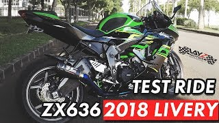 10. TEST RIDE ZX636 2018 LIVERY | THE NEW KAWASAKI ZX636
