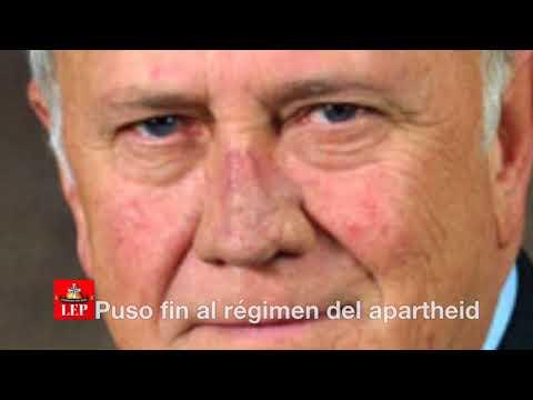 Frederik de Klerk, Premio Nobel de la Pazvisita Panamá