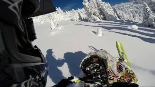 10. 2014 Ski-Doo Freeride ripping it up at Grizzly lodge, BC