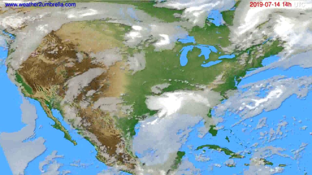 Cloud forecast USA & Canada // modelrun: 12h UTC 2019-07-12