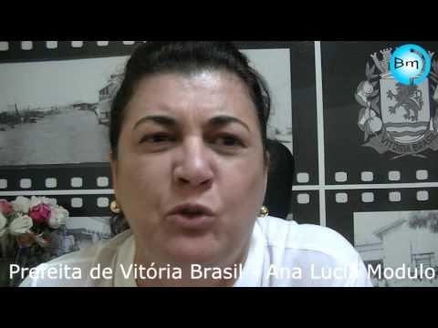 Vitória Brasil - Prefeita Ana Lucia Modulo (PSDB), recebeu nossa reportagem e afirma: sou candidata a reeleição.