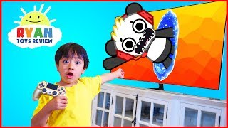 Video Ryan and Combo Panda jumped into the TV + New Gaming Channel VTubers with Ryan ToysReview MP3, 3GP, MP4, WEBM, AVI, FLV Maret 2018