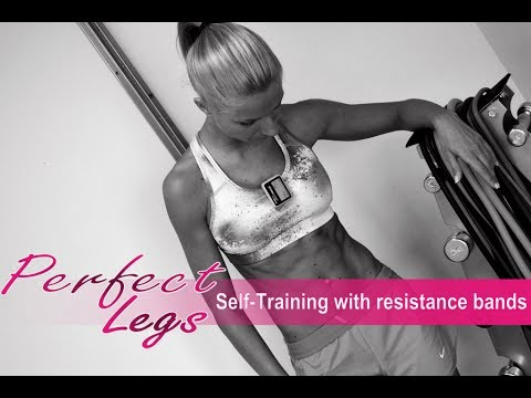 "The perfect legs' workout ""at home with resistance bands"""