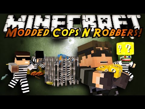 Minecraft Mini-Game : MODDED COPS N ROBBERS! LUCKY BLOCKS!
