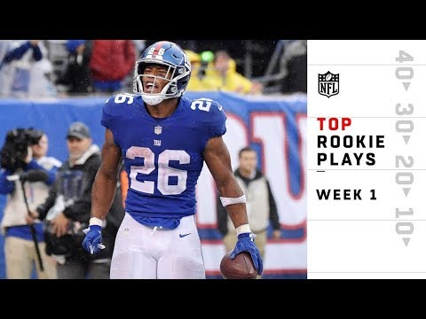 Top Rookie Plays from Sunday | NFL Week 1 Highlights (видео)