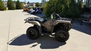 8. 2017 Honda Rancher 420 DCT + EPS 4x4 ATV (TRX420FA2H) Walk-Around Video | Camo