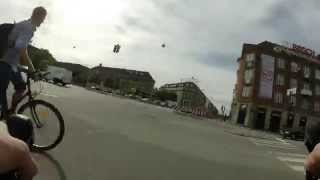 Bicycle riding to work, Copenhagen Denmark, GoPro time-lapse