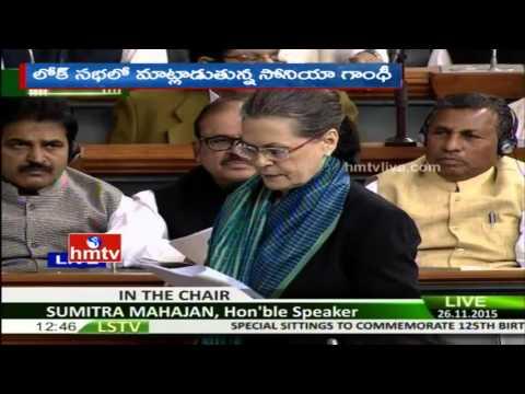 Sonia Gandhi Speech in Parliament Session 2015
